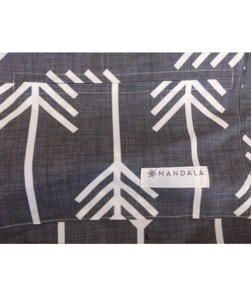 Mandala Refresher Yoga Bag Charcoal Arrow