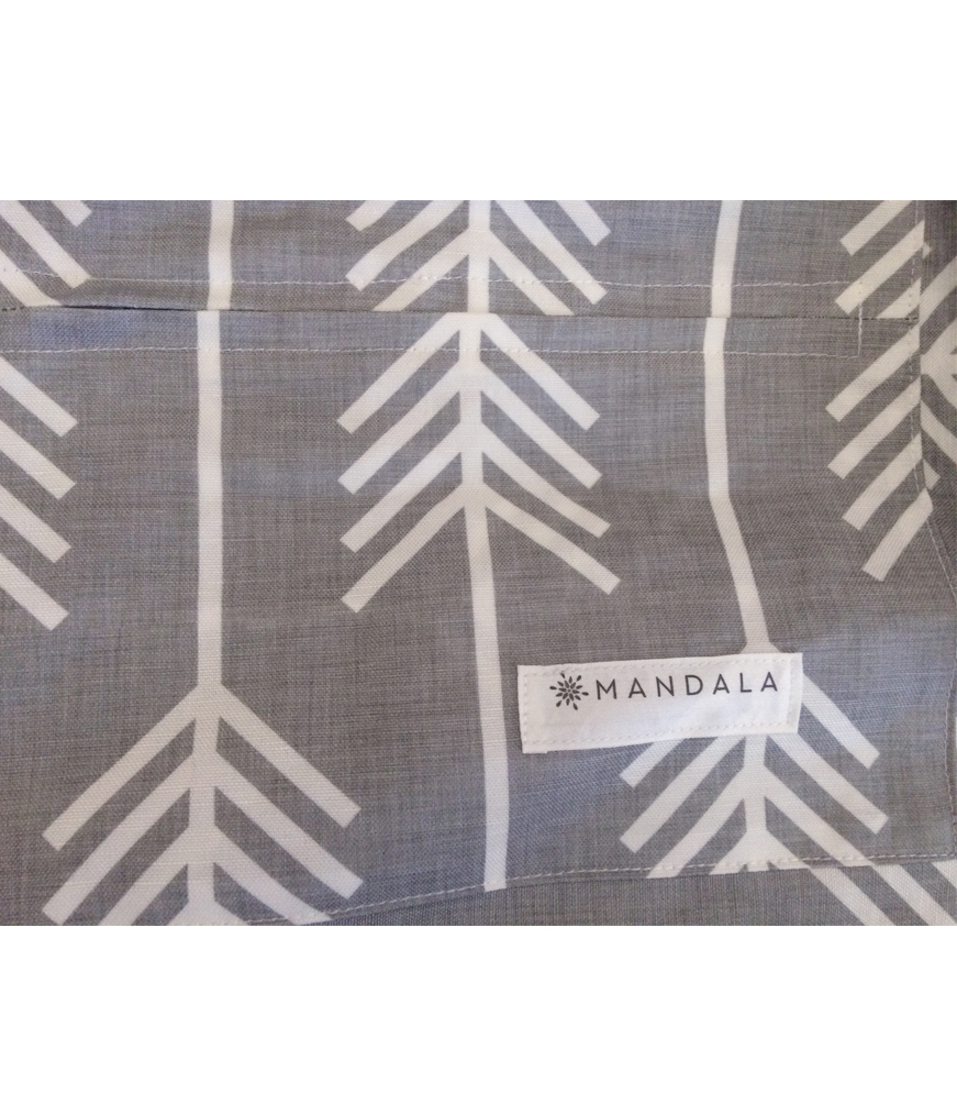 Mandala Refresher Yoga Bag Arrow Light Grey
