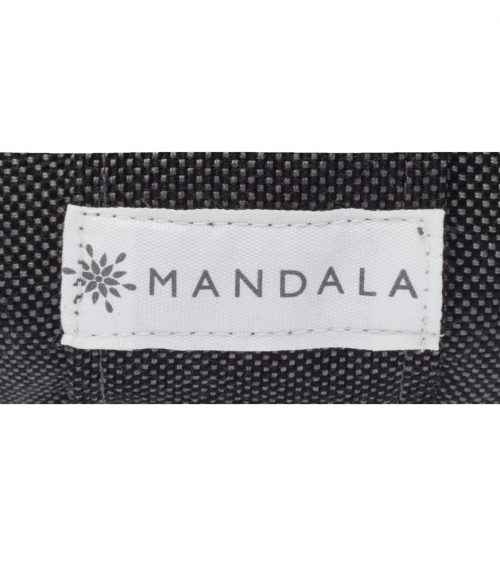 Mandala bolster outdoor charcoal fabric