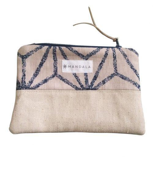 mandala zip wallet