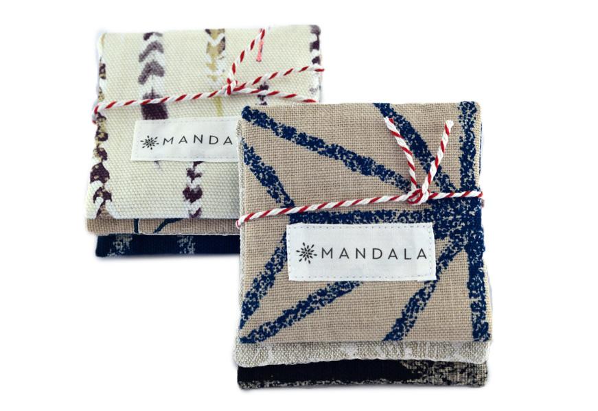 Mandala Lavendar squares stack