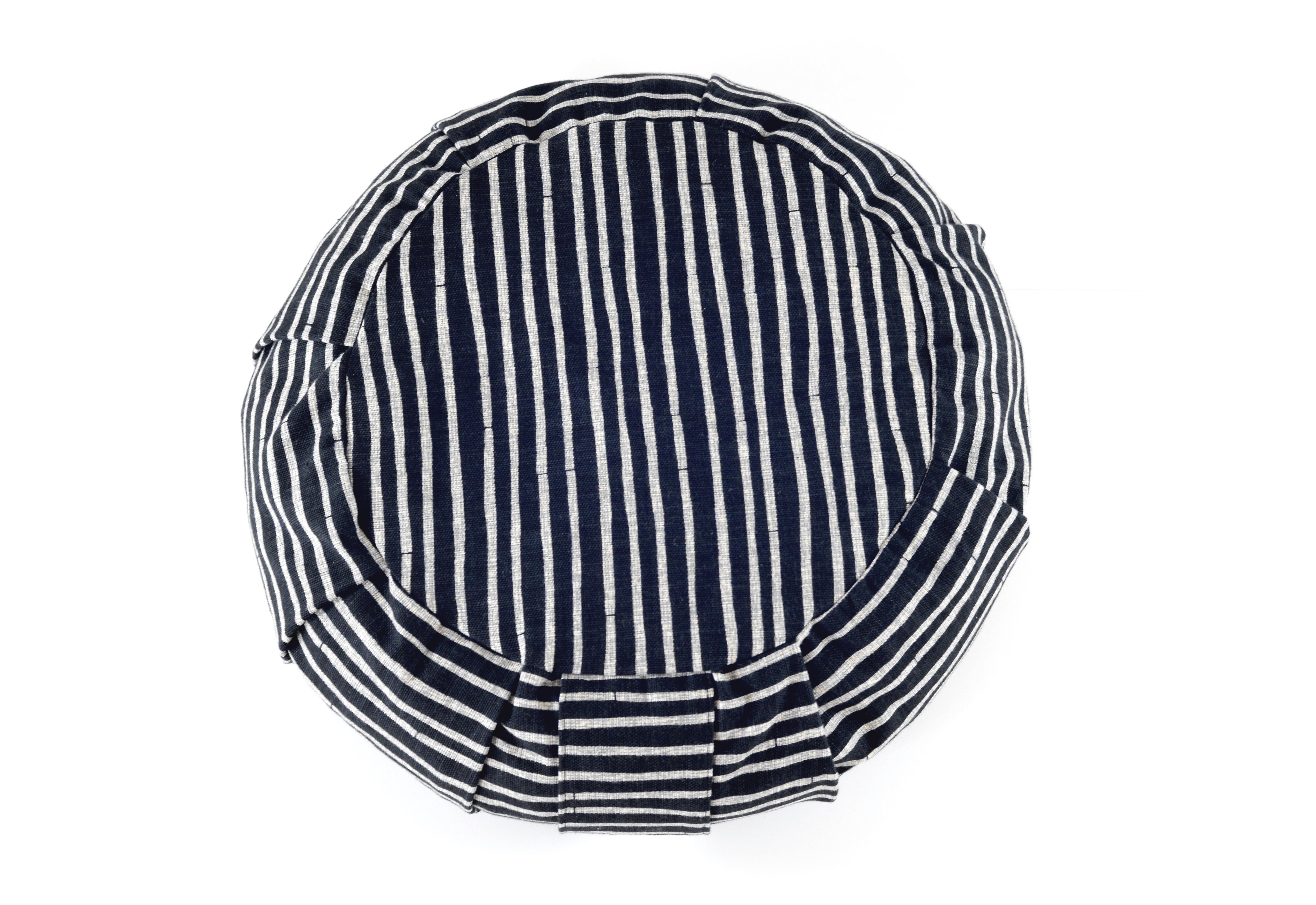 mini roundie ebony stripe