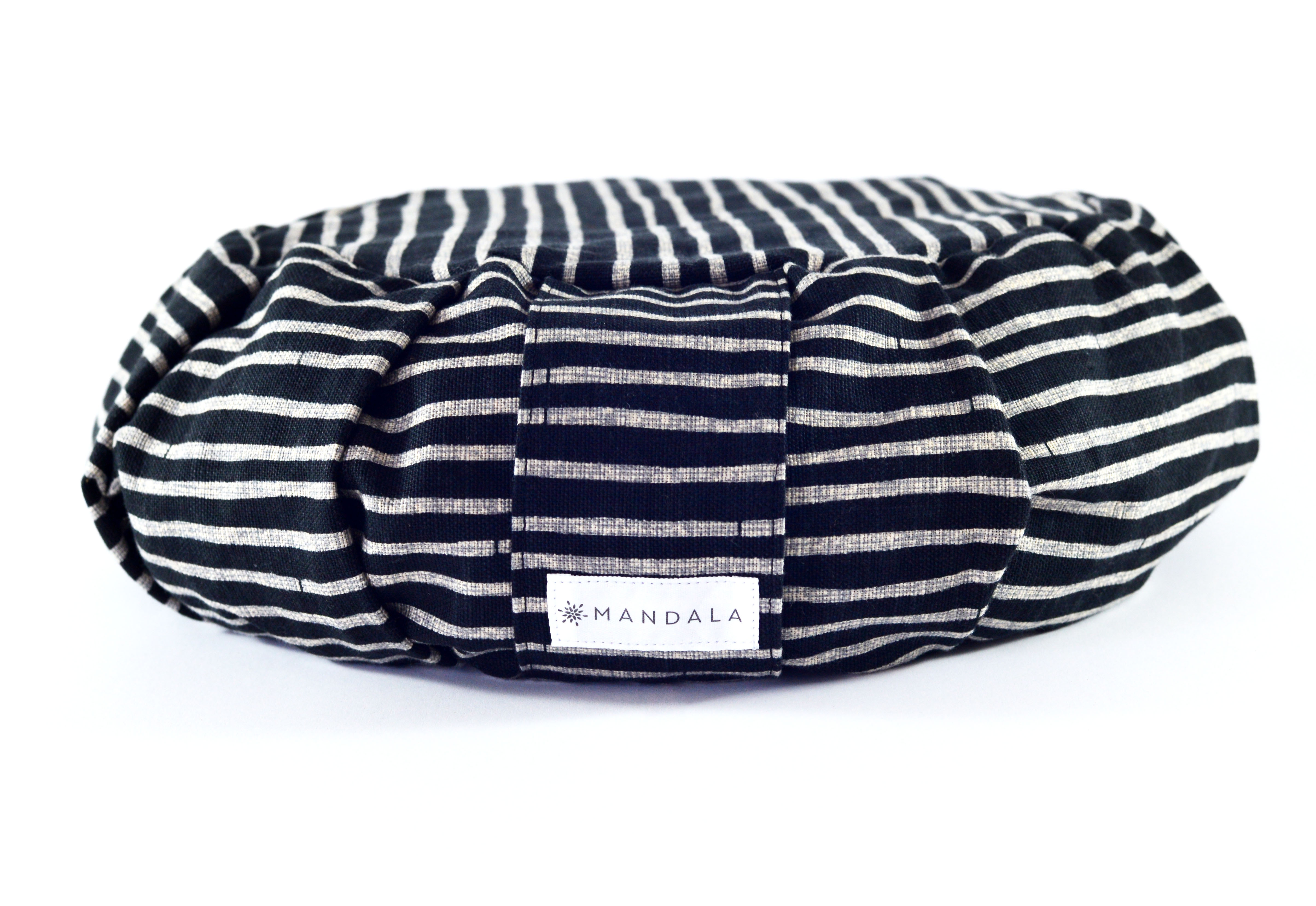 Japanese print Ebony stripe mini roundie